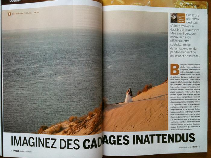 Articles ecrit par le photographe de mariage Davidone, pour le Magazine Competence Photo